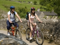 Cycling at Wetton Mill in the Peak District with PH Holidays